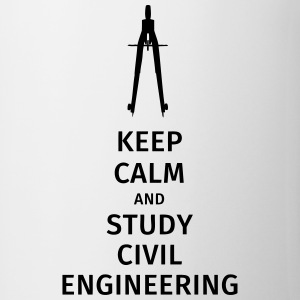 keep calm and study civil engineering Mugs & Drinkware - Mug