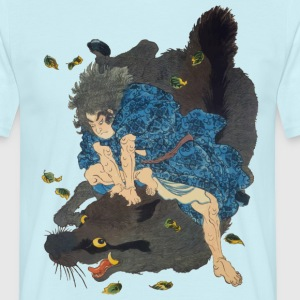 Samurai Vs boar T-Shirts - Men's T-Shirt