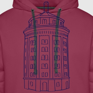 Water tower at Kollwitzplatz  Hoodies & Sweatshirts - Men's Premium Hoodie