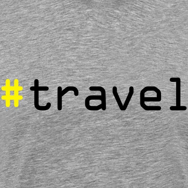 """Herren Premium T-Shirt """"#travel"""""""