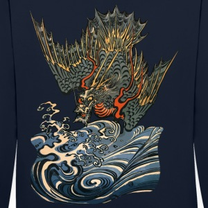 Ocean Dragon Sweat-shirts - Sweat-shirt contraste
