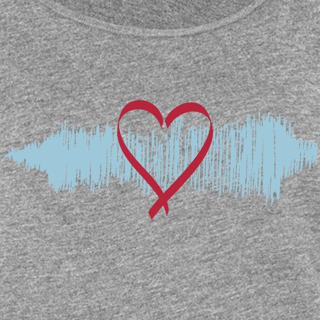 """Damen Premium Top """"Heart Beat"""""""