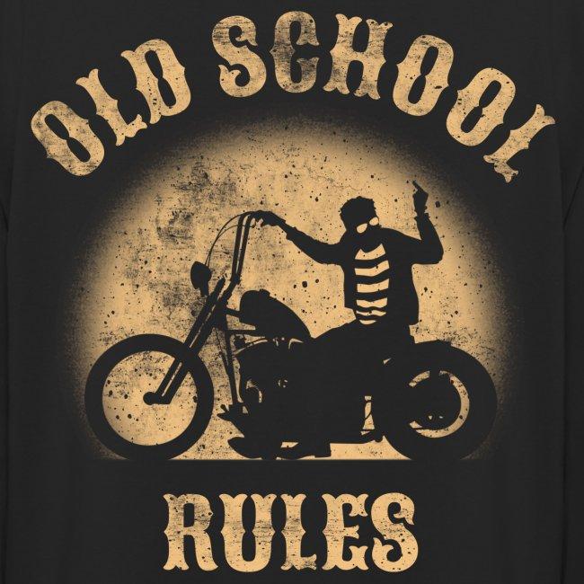Old School Rules sudadera capucha