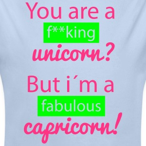 Unicorn VS Capricorn Baby Bodys - Baby Bio-Langarm-Body