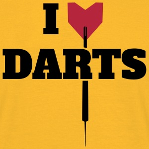 I LOVE DARTS SHIRT T-Shirts - Men's T-Shirt