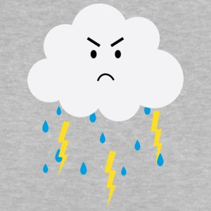 Grumpy cloud with lightnings Baby Shirts  - Baby T-Shirt