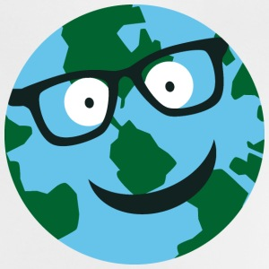 Earth with glasses Baby Shirts  - Baby T-Shirt