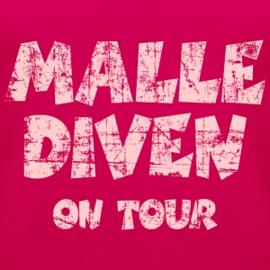 Malle Diven on Tour Vintage/Pink Tank Top - Frauen Premium Tank Top