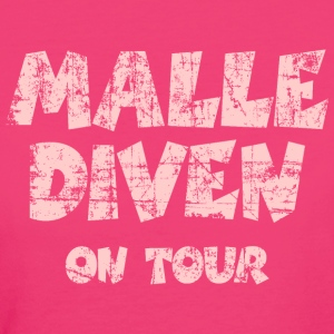Malle Diven on Tour Vintage/Pink Bio T-Shirt - Frauen Bio-T-Shirt