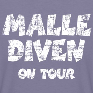 Malle Diven on Tour Vintage Weiß T-Shirts - Frauen Premium T-Shirt