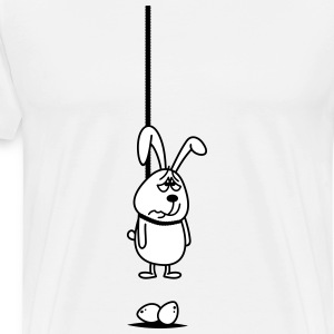 Opknoping Easter Bunny 2c. T-shirts - Mannen Premium T-shirt