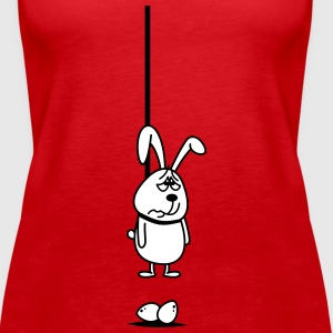 Hanging Easter Bunny 2c. Tops - Women's Premium Tank Top