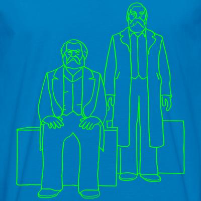 Marx-Engels-Forum neon-grün Berlin Sozialismus
