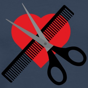Scissors comb and heart T-Shirts - Men's Premium T-Shirt