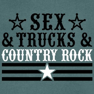 Sex and Trucks and Country Rock T-Shirts - Männer T-Shirt mit V-Ausschnitt