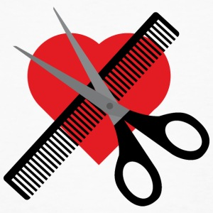 Scissors comb and heart T-Shirts - Men's Organic T-shirt