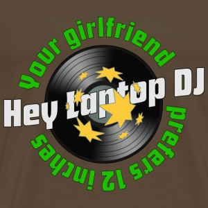 Your girlfriend prefers 12 inches! Vinyl analog - Männer Premium T-Shirt