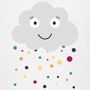 cloud with confetti Shirts - Kids' T-Shirt