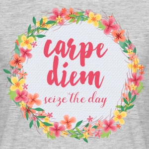 Carpe Diem Pink Quote  T-skjorter - T-skjorte for menn