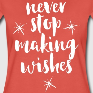 Making Wishes Quote Camisetas - Camiseta premium mujer