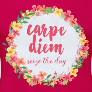 Carpe Diem Pink Quote  T-Shirts - Frauen Premium T-Shirt