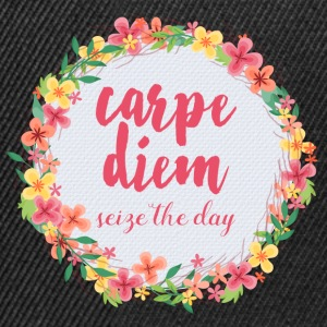 Carpe Diem Pink Quote  Caps & Hats - Snapback Cap