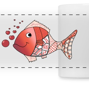 Valentine fish mug - Panoramic Mug