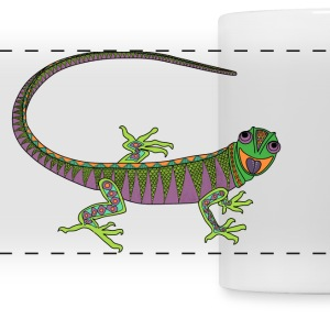 Crazy lizard mug - Panoramic Mug
