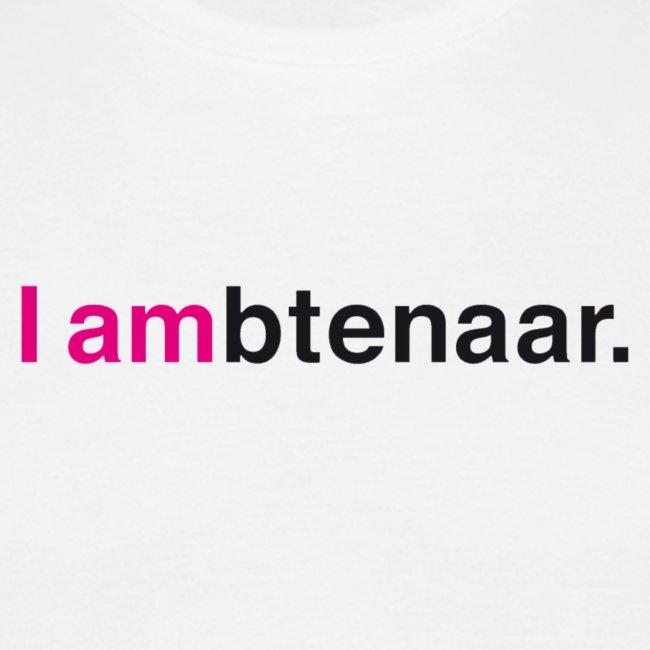 I ambtenaar T-shirt Logo groot (mannen)