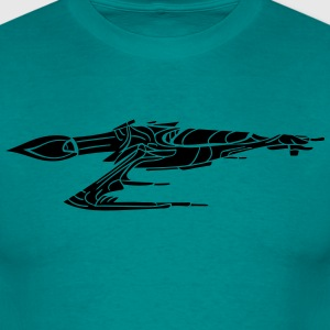 Black Design Battle romskip krigs Star Wars skyte  T-skjorter - T-skjorte for menn