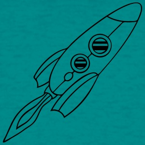 rocket spaceship flying fire T-Shirts - Men's T-Shirt