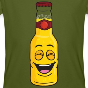 Bottle Of Beer Smiling - Men's Organic T-shirt