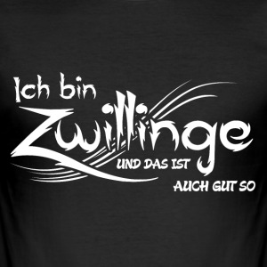 Zwillinge T-Shirts - Männer Slim Fit T-Shirt