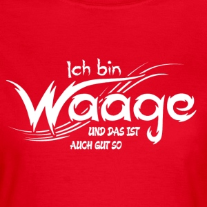 Waage T-Shirts - Frauen T-Shirt