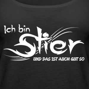 Stier Tops - Frauen Premium Tank Top