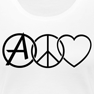 ANARCHY PEACE & LOVE T-shirts - Dame premium T-shirt