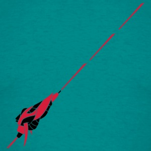 War laser shoot fight hunter cool spaceship space  T-Shirts - Men's T-Shirt