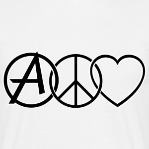 ANARCHY PEACE & LOVE T-shirts - Herre-T-shirt