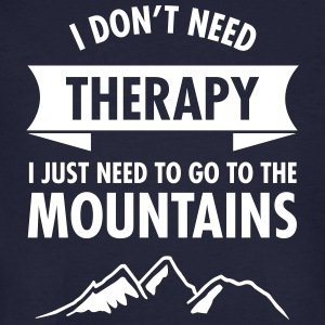 Therapy - Mountains T-Shirts - Männer Bio-T-Shirt