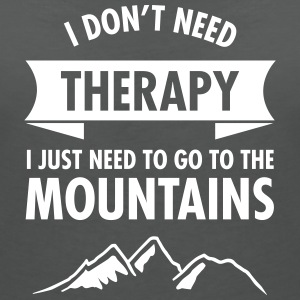 Therapy - Mountains T-Shirts - Women's V-Neck T-Shirt