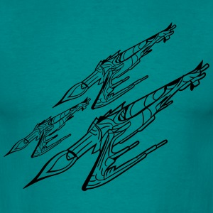 Task Force many spaceships war Star Wars shoot reb T-Shirts - Men's T-Shirt
