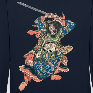 Chinese Warrior Hoodies & Sweatshirts - Contrast Colour Hoodie