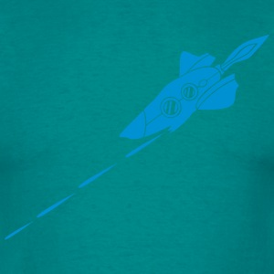 Battle spaceship laser shooting war Star Battle T-Shirts - Men's T-Shirt