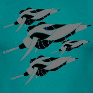 Hunter fleet AMADER many spaceships war federation T-Shirts - Men's T-Shirt