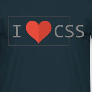 I Love CSS T-Shirts - Men's T-Shirt