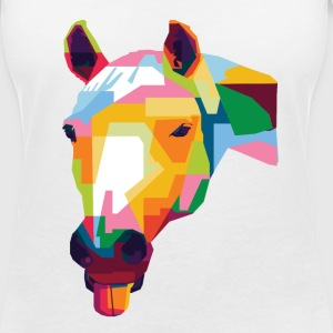 Colorful Horse T-Shirts - Women's V-Neck T-Shirt