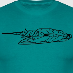 slider ufo cool futuristic technology spaceship sp T-Shirts - Men's T-Shirt