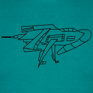 futuristic technology universe spaceship aliens al T-Shirts - Men's T-Shirt