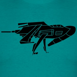 cool futuristic technology spaceship space aliens  T-Shirts - Men's T-Shirt