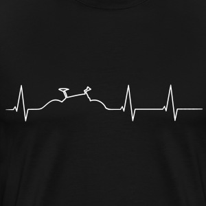 Mountainbike heartbeat T-Shirts - Men's Premium T-Shirt